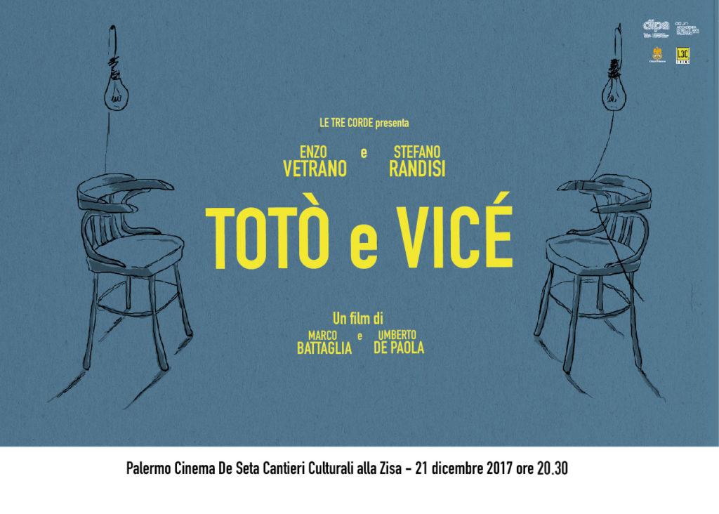 Locandina del Film Totò e Vicé in proiezione il 21 Dicembre a Palermo