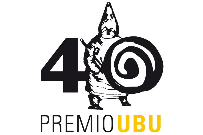 Logo quarantesima edizione del Premio Ubu 2017