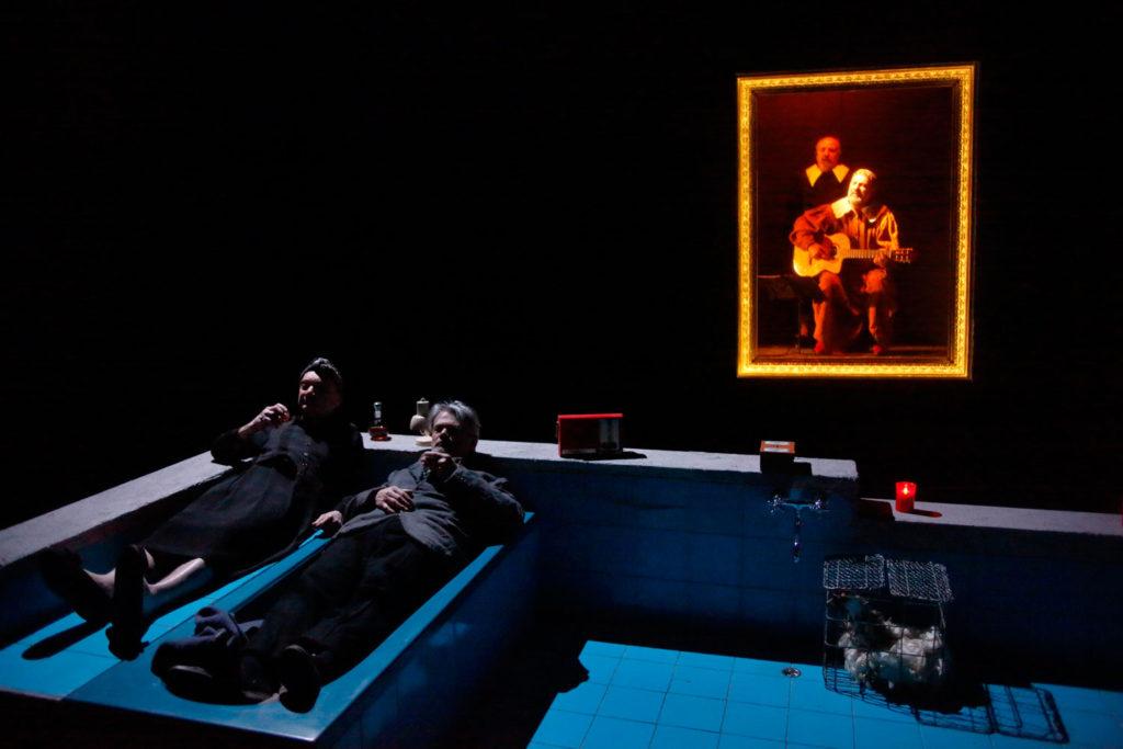 Foto di scena di Assassina regia Stefano Randisi Enzo Vetrano